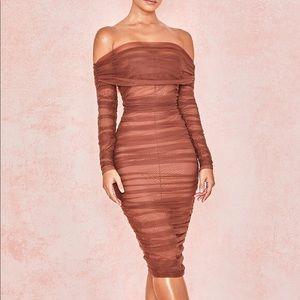 Chestnut Ruched Dress